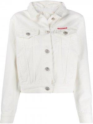 Джинсовая куртка кроя слим pushBUTTON. Цвет: белый