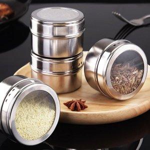 Диспенсеры для приправ и специй Кухонное хранение SHEIN. Цвет: серебряные