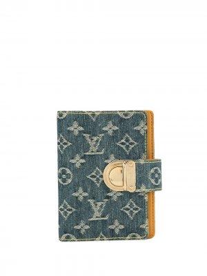 Обложка для блокнота PM 2007-го года Louis Vuitton. Цвет: синий
