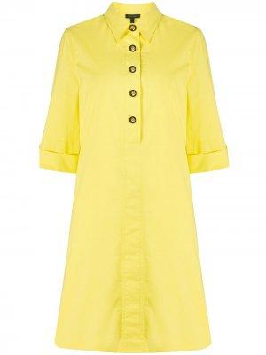 Платье-рубашка миди Escada. Цвет: желтый