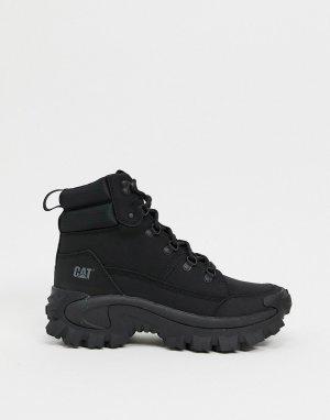 Черные ботинки на толстой подошве CAT Trespass-Черный Footwear