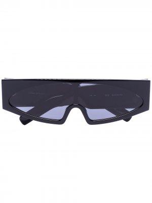 Солнцезащитные очки Tecuatl в футуристичном стиле Rick Owens. Цвет: черный