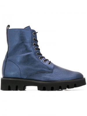 Ботинки на шнуровке Hogl. Цвет: синий