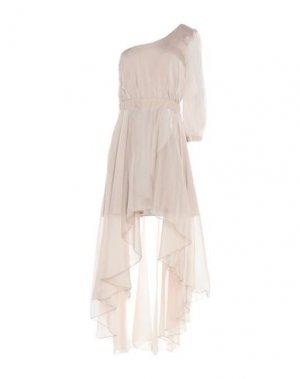 Короткое платье MANGANO. Цвет: голубиный серый