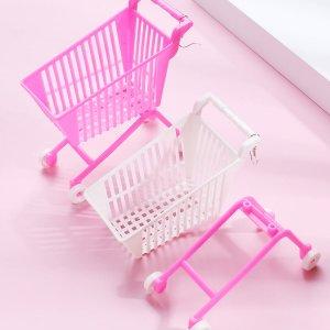 Серьги-подвески с корзиной покупателя SHEIN. Цвет: многоцветный