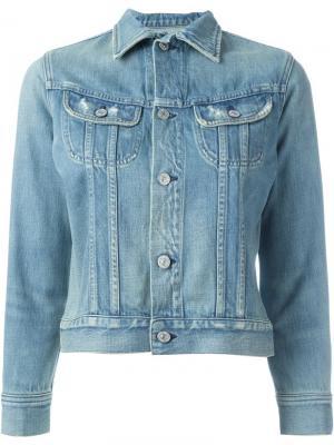 Укороченная джинсовая куртка Citizens Of Humanity. Цвет: синий