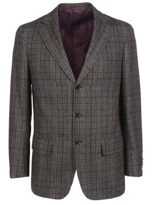 Шерстяной пиджак Castangia. Цвет: разноцветный