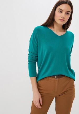 Пуловер United Colors of Benetton. Цвет: бирюзовый