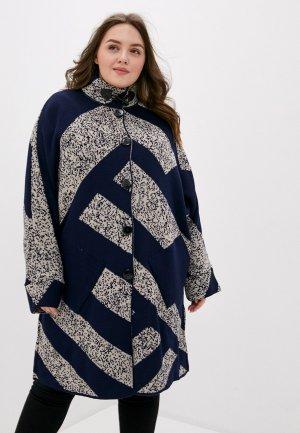 Пальто Milanika. Цвет: синий