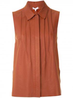 Рубашка Ruby с плиссировкой Nk. Цвет: коричневый