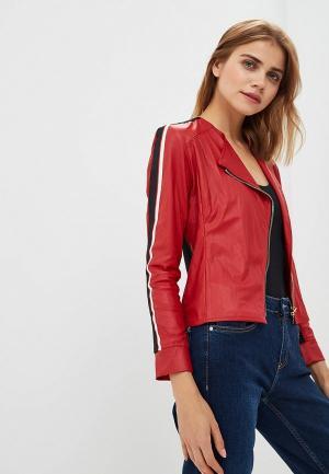 Куртка кожаная Rinascimento RI005EWCCFZ1. Цвет: красный