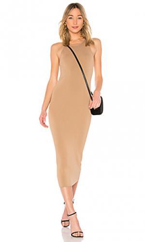 Платье marc A.L.C.. Цвет: коричневый