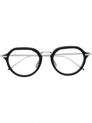 Очки в круглой оправе Thom Browne Eyewear. Цвет: 03
