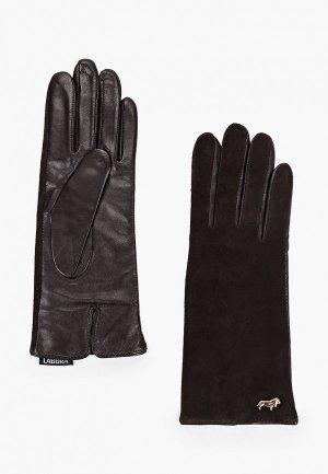 Перчатки Labbra 6.5. Цвет: коричневый