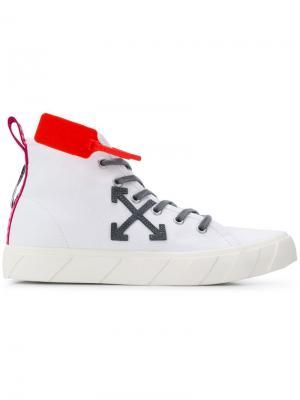 Кеды на шнуровке Off-White. Цвет: белый