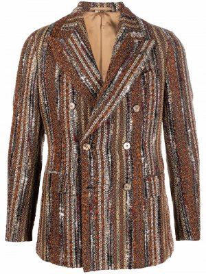 Двубортный пиджак Gabriele Pasini. Цвет: оранжевый
