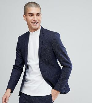 Супероблегающий пиджак в крапинку -Темно-синий Noak