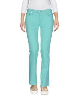 Джинсовые брюки (+) PEOPLE. Цвет: светло-зеленый