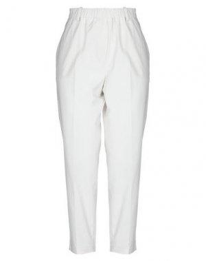Повседневные брюки GOSSIP. Цвет: белый