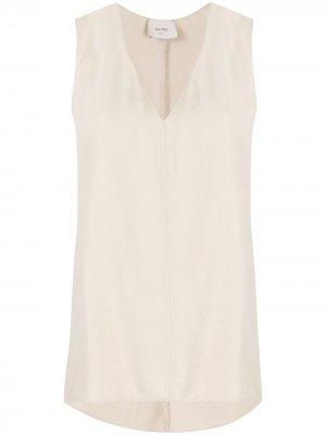 Блузка без рукавов с жатым эффектом Alysi. Цвет: нейтральные цвета