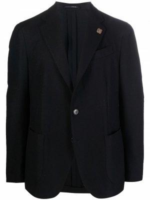 Однобортный пиджак Lardini. Цвет: черный