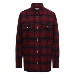 Шерстяная рубашка Isabel Marant Etoile. Цвет: красный