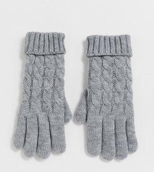 Серые вязаные перчатки эксклюзивно от -Серый Stitch & Pieces