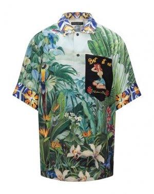 Pубашка DOLCE & GABBANA. Цвет: зеленый