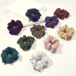 10шт простой блеск Scrunchie SHEIN. Цвет: многоцветный