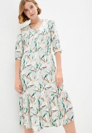 Платье домашнее Eva Cambru. Цвет: зеленый