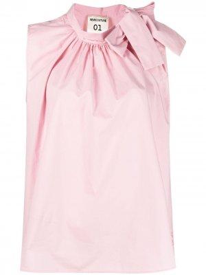 Блузка без рукавов с бантом Semicouture. Цвет: розовый