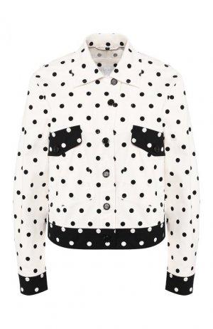 Джинсовая куртка Escada Sport. Цвет: чёрно-белый