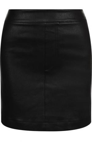 Кожаная мини-юбка Helmut Lang. Цвет: черный
