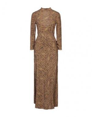 Длинное платье SPACE SIMONA CORSELLINI. Цвет: песочный