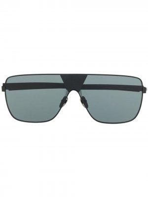 Солнцезащитные очки в массивной оправе Spektre. Цвет: черный