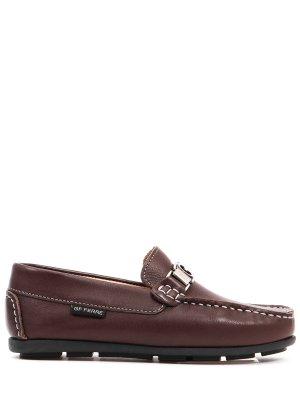 Мокасины кожаные для мальчика Gianfranco Ferre. Цвет: коричневый