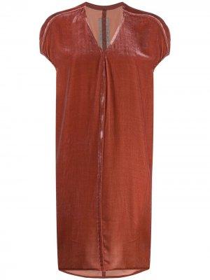 Платье-туника свободного кроя Rick Owens. Цвет: розовый