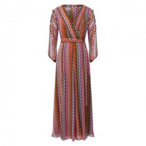 Платье Diane Von Furstenberg. Цвет: разноцветный