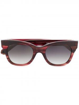 Солнцезащитные очки в прямоугольной оправе Matsuda. Цвет: красный