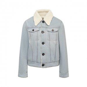 Джинсовая куртка Victoria, Victoria Beckham. Цвет: синий
