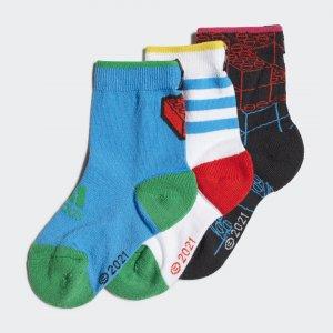 Три пары носков x Classic LEGO® adidas. Цвет: белый