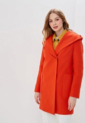 Полупальто Karolina. Цвет: оранжевый