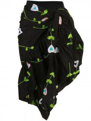Marea embroidered sarong Cynthia Rowley. Цвет: черный