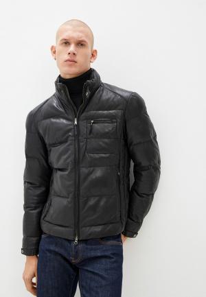 Куртка кожаная Blouson DAVIS. Цвет: черный