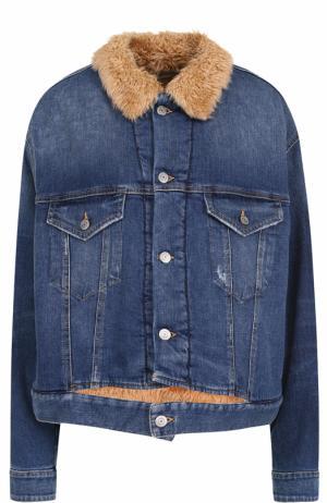 Джинсовая куртка свободного кроя Golden Goose Deluxe Brand. Цвет: синий
