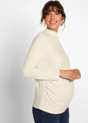 Лонгслив и футболка для беременных (2 изд.) bonprix. Цвет: белый
