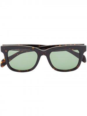 Солнцезащитные очки Viator Scout в квадратной оправе visvim. Цвет: коричневый