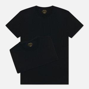 Комплект мужских футболок Classic 2-Pack Crew Neck Polo Ralph Lauren. Цвет: чёрный