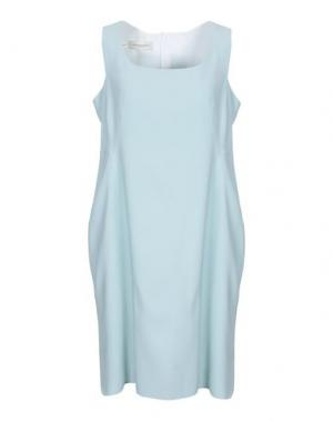 Платье до колена AQUILANO-RIMONDI. Цвет: небесно-голубой
