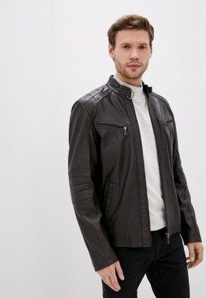Куртка кожаная Jorg Weber. Цвет: коричневый